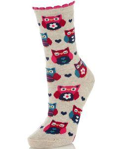 All Over Owl Socks