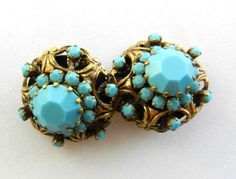 Attractive domed round  turquoise crystals by RAKcreations on Etsy