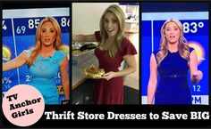 These Houston TV / Anchor girls have to look amazing every single day ... why not save BIG money by wearing high quality thrift store dresses found by Too Cheap Blondes, for pennies on the dollar!