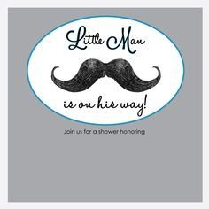 Mustache baby shower invitation baby boy little man mustache bash free baby shower invitations little man mustache pronofoot35fo Image collections