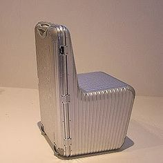 Now this would be handy if it was one wheels but I'm not sure they would consider it carry-on... maybe sit-on? LOL Naoto Fukawasa Rimowa Aluminum chair