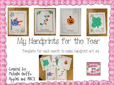 Handprint Calendar Template Printable  Template Craft And