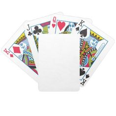White Bicycle Playing Cards - home gifts ideas decor special unique custom individual customized individualized