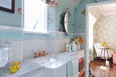 "Pasadena Showcase House of Design 2014: ""The Nursery Suite"" - Amy Peltier Interior Design & Home Eclectic Bathroom, Bathtub, California Cool, Diy Crafts, Interior Design Studio, Amy, Cool Style, Nursery, House Design"