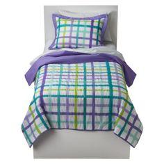 Circo® Plaid Quilt Set - Purple
