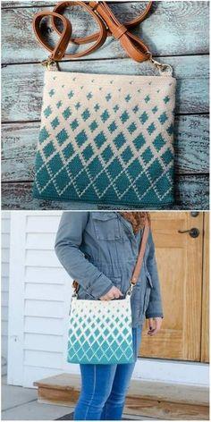 Best Ideas For Tapestry Crochet Bag Handbags Crochet Backpack, Crochet Clutch, Crochet Handbags, Crochet Purses, Free Crochet Bag, Crochet Bags, Mochila Crochet, Tapestry Crochet Patterns, Bag Pattern Free