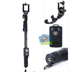YunTeng Extendable Handheld Monopod +Shutter Remote For Gopro 4 3 2 1 in Cameras & Photography, Tripods & Supports, Tripods & Monopods Camera Photography, Tripod, Shutters, Gopro, Cameras, Outdoor Power Equipment, Remote, Bluetooth, Ebay