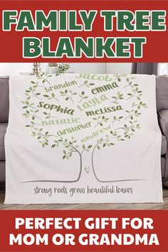 Gifts For Older Women Family Tree Blanket