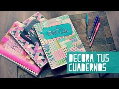 decora tus cuadernos para el regreso a clases