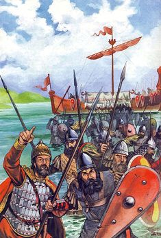 The landing of troops of Constantine V in Thrace, 756