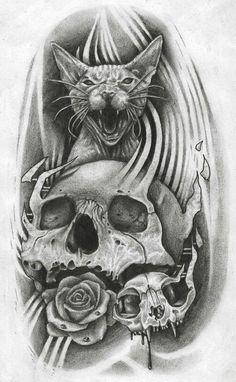 Cat & Skull