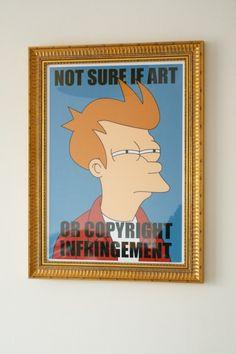 No estoy seguro si es arte... o una infraccion al copyright