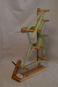 solid maple inkle loom by InkleLoomShop on Etsy Inkle Weaving Patterns, Weaving Textiles, Loom Weaving, Loom Patterns, Weaving Tools, Card Weaving, Weaving Projects, Basket Weaving, Inkle Loom