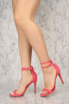 Sexy Blush Wrap Around Ankle Strap Open Toe Single Sole High Heels Pink High Heels, Open Toe High Heels, Hot High Heels, Platform High Heels, High Heel Pumps, Womens High Heels, Pumps Heels, Stiletto Heels, Ankle Strap Heels