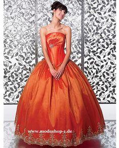 Mode Ballkleid 2015 Brautkleid Taiwan in Orange