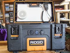 Radio box powered up Ham Radio Kits, Mobile Ham Radio, Ham Radio License, Tool Box On Wheels, Ham Radio Antenna, Radio Channels, Go Kit, John Wright, Technology Gadgets