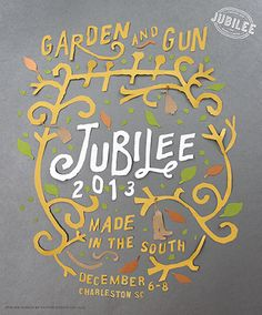 Join us for the Garden & Gun Made in the South Weekend, December 6-8 in #Charleston, SC #GGJubilee
