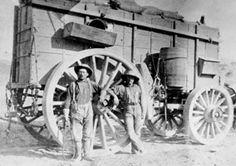 Muleskinner and Swamper with Twenty Mule Team Wagon