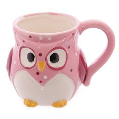 Owl Ceramic Mug Novelty polka dot owl ceramic mug arriving in its own gift box designed by Ted Smith.  The perfect shabby chic accessory for your home or gift for your loved ones.