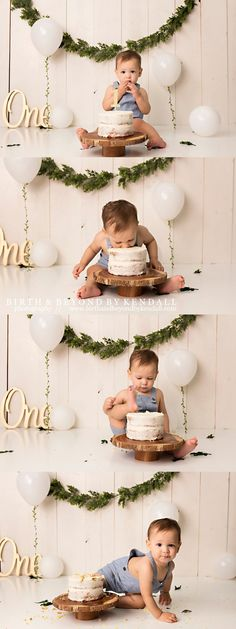 simple boy greenery cake smash simple boy greenery cake smash simple boy greenery cake smash photography session Recent Work - Birth & Beyond by Kendall<br> Boys First Birthday Party Ideas, 1st Birthday Photoshoot, Baby Boy 1st Birthday Party, 1st Birthday Cake Smash, Baby Smash Cakes, Diy Cake Smash, Simple First Birthday, Boy Birthday Pictures, First Birthday Photos