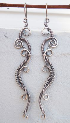 Wire wrapped earrings bohemian earrings mystic by Kissedbyclover