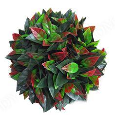 2 Artificial Green 28cm Topiary Balls Buxus Leaf Garden Hanging Grass Outdoor