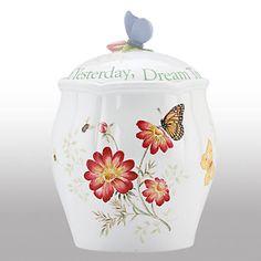 Butterfly Meadow® Sentiment Cookie Jar by Lenox
