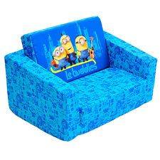White Leather Sofa NEW Minions Flip Out Sofa Kids Age
