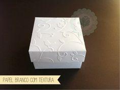 Caixa bem casado branca - textura