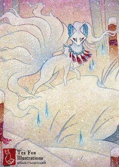 Alolan Ninetales by TeaKitsune.deviantart.com on @DeviantArt