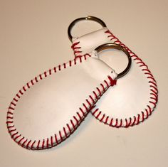 The Original Baseball Keychain genuine leather by ByStudio13