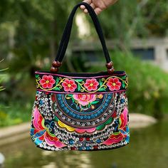 2017 Embroidery Ethnic Travel Shoulder Bag Women Bags Handmade Double Faced Flower Vintage Embroidered Canvas Wood Beads Handbag -  http://mixre.com/2017-embroidery-ethnic-travel-shoulder-bag-women-bags-handmade-double-faced-flower-vintage-embroidered-canvas-wood-beads-handbag/  #Handbags