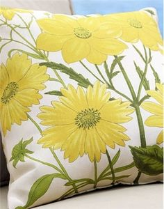 patio cushion cover Dahlia Outdoor Pillow Pattern
