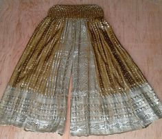 Free Size Pirate's Gold Flow Pants Silk Sari by BaroccoTribal