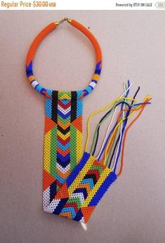 African style long fringe necklace