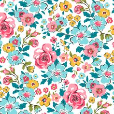 Ditsy Flowers Floral fabric by caja_design on Spoonflower - custom fabric
