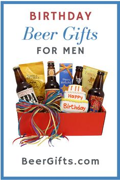 Birthday beer gifts for men.