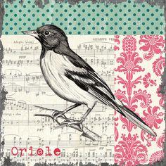 Vintage Songbird 2 Painting  - Vintage Songbird 2 Fine Art Print
