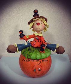 Dulcero halloween !! #pastaflexible #halloween #espantapajaros www.facebook.com/CreartebyJess