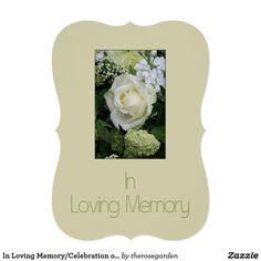 In Loving Memory/Celebration of Life Invitation