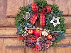 Risultati immagini per vánoční věnec na dveře