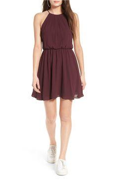 Lush Blouson Chiffon Skater Dress