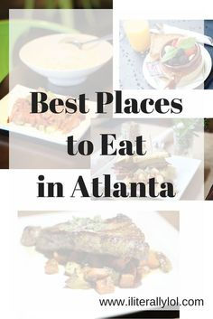 Top 4 places to eat in Atlanta, Georgia. Breakfast, brunch, lunch, or dinner--this list has you covered. Gluten-free, vegan, and nut-free options available.
