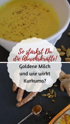 So stärkst Du Deine Abwehrkräfte mit der berühmten Goldenen Milch mit Ingwer und Kurkuma, auch Kurkuma Latte genannt. Die Wirkungen von Kurkuma jetzt auf meinem Blog: #goldenemilch
