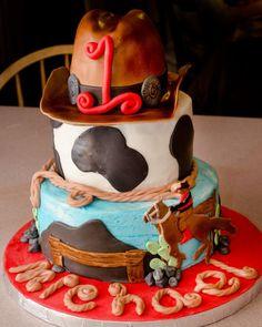 Cowboy 1st Birthday cake
