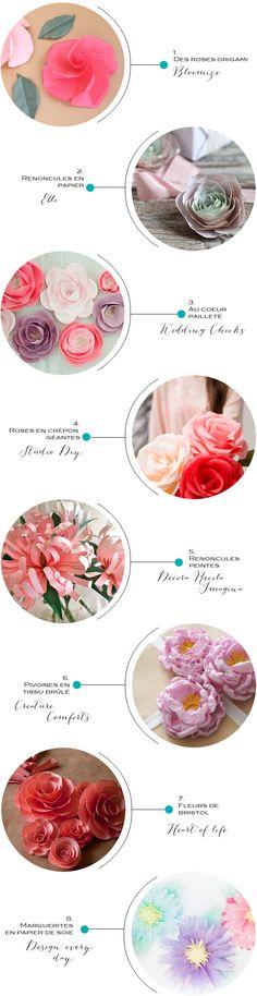 8 idées DIY pour de jolies fleur en papier!