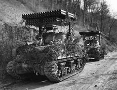 The Rocket Launcher (Calliope) was a tank-mounted multiple rocket launcher used by the United States Army during World War II. The launcher was placed atop the Sherman, and fired a barrage of. Army Vehicles, Armored Vehicles, Us Armor, Sherman Tank, Tank Destroyer, Ww2 Photos, Ww2 Tanks, Battle Tank, United States Army