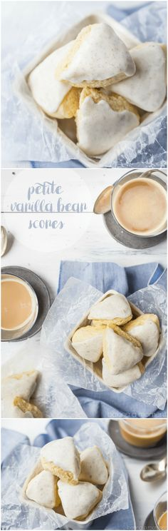 These homemade petite vanilla bean scones tasted even better than the Starbucks version! So simple to make and so good with a cup of coffee. food breakfast brunch via @bakingamoment