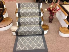 Taza carpet on stairs