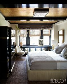 Cameron Diaz Manhattan Home - Kelly Wearstler  window seating